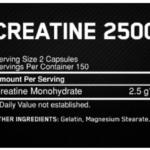 Créatine 2500 Caps Optimum Nutrition – 200 Capsules